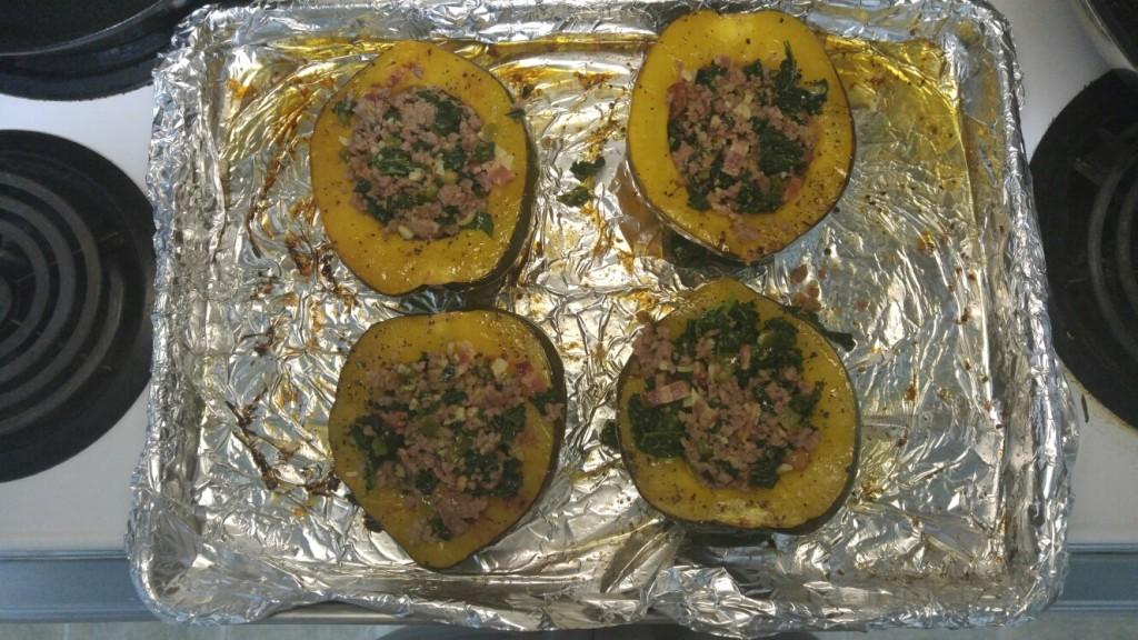 step 6 - stuff acorn squash