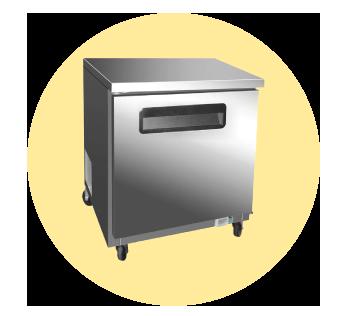 Undercounter Refrigerator Chef Base