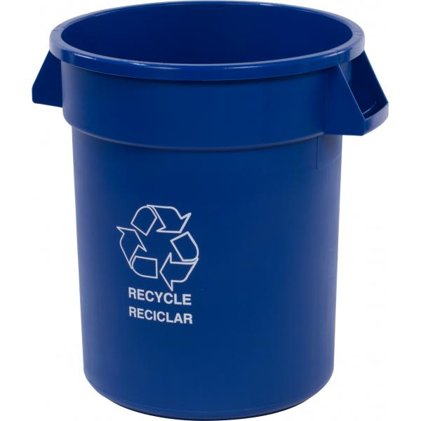 Carlisle 341020REC14 Bronco Recycle Waste Container, Blue