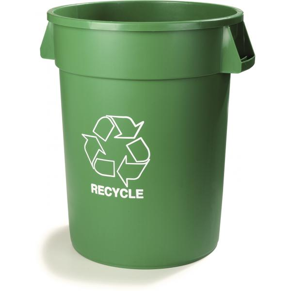 Carlisle 341032REC09 Bronco Recycle Waste Container, Green