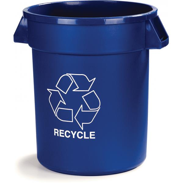 Carlisle 341032REC14 Bronco Recycle Waste Container, Blue