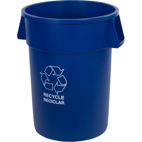 Carlisle 341044REC14 Bronco Recycle Waste Container, Blue