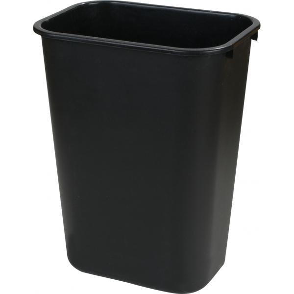 Carlisle 34292803 Office Wastebasket, Black