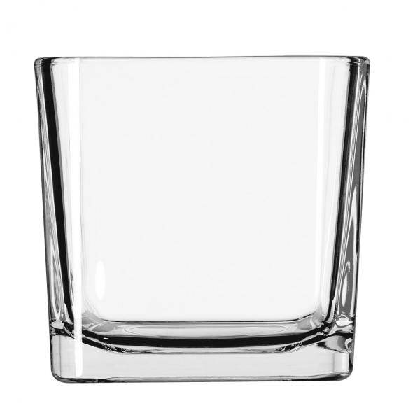 Libbey 5475 14 oz. Square Glass Votive/Candle Holder