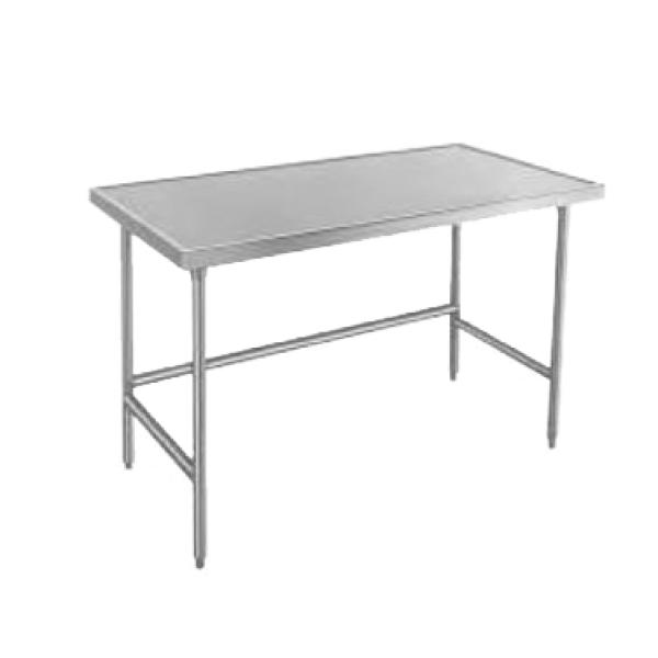 "Advance Tabco TVLG3010 120""L x 30""W Work Table - No Backsplash - No Undershelf - Galvanized Frame"