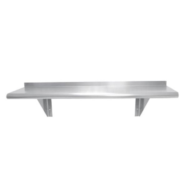 "Advance Tabco WS1272 72""L x 12""D Stainless Steel Wall Mounted Shelf - 18 Ga. 300 Series"