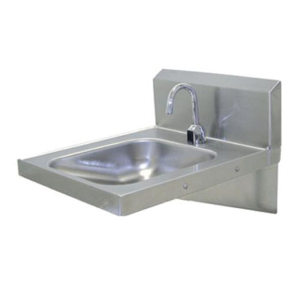Wall Mounted Hand Sink w/ Electric Faucet - 14