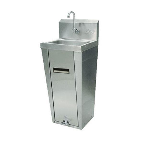 Wide Base Pedestal Sink : Pedestal Hand Sink w/ Pedal Valve - 14