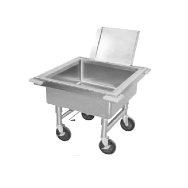 "Advance Tabco 9FSC20 Portable Soak Sink - Stainless Steel - 20"" Working Height w/ Silver Chute"