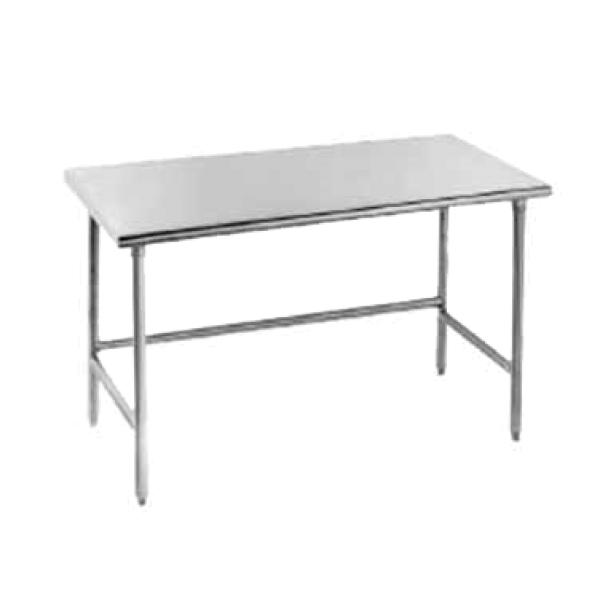 "Advance Tabco TSAG364 48""L x 36""W Work Table - No Backsplash - Stainless Frame"