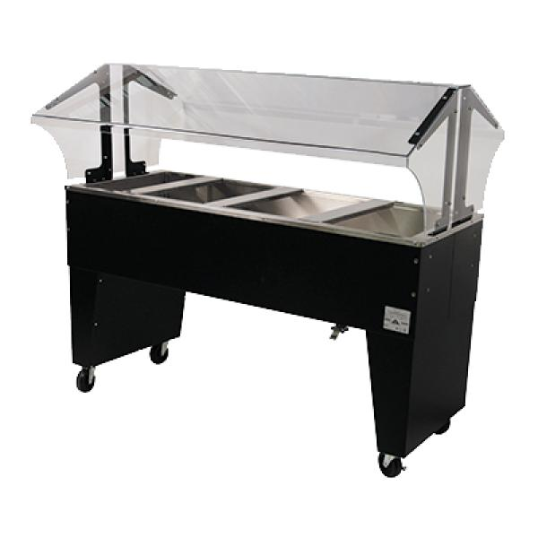 Portable cold food buffet table ice cooled 4 pan size for 12 inch deep buffet table