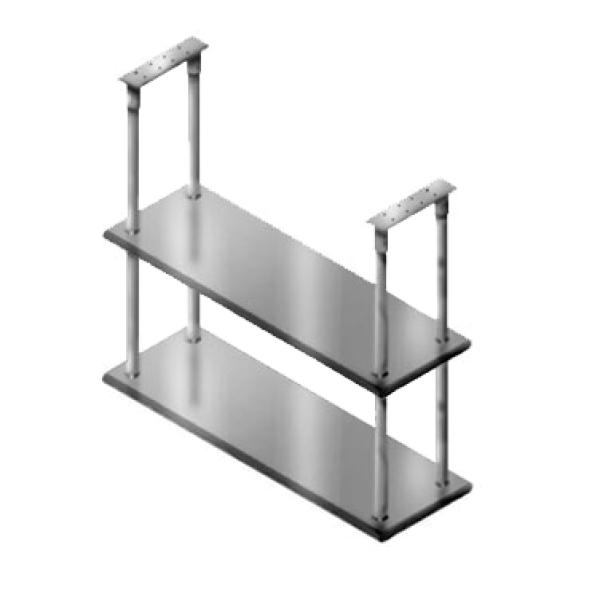 """60""""L X 18""""W Stainless Steel Double Overshelf"""