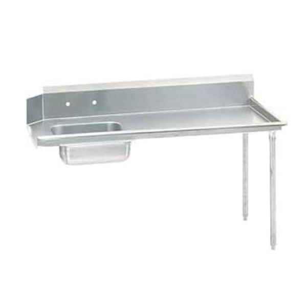 "Advance Tabco DTSS6060R Straight Soiled Dishtable - Right-to-Left w/ Pre-Rinse Sink - 60""L"