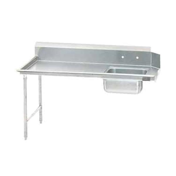 "Advance Tabco DTSS7096L Straight Soiled Dishtable - Left-to-Right w/ Pre-Rinse Sink - 96""L"