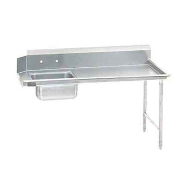 "Advance Tabco DTSS7072R Straight Soiled Dishtable - Right-to-Left w/ Pre-Rinse Sink - 72""L"