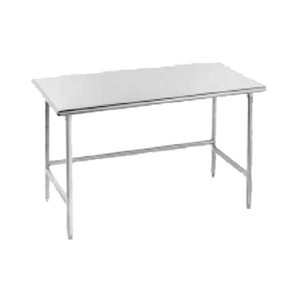 "Advance Tabco TMS306 72""L x 30""W Work Table - No Backsplash - Stainless Steel Frame"