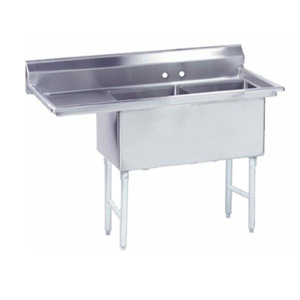 2 Compartment Sink : ... 2424-18L 2-Compartment Sink w/ 18