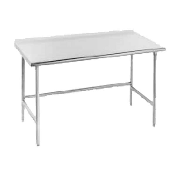 "Advance Tabco TSFG3011 132""L x 30""W Work Table - 1.5"" Backsplash - Stainless Frame"