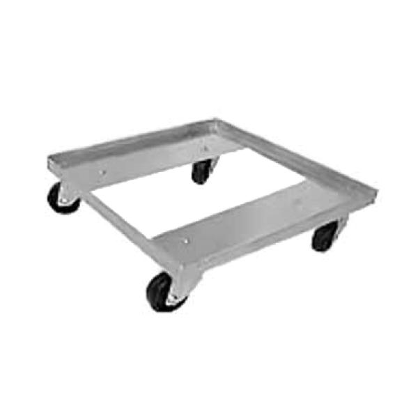 "Advance Tabco GRD1 Glass Rack Dolly - Single Stack w/ 400 lb. Capacity - 3"" Plate Casters"