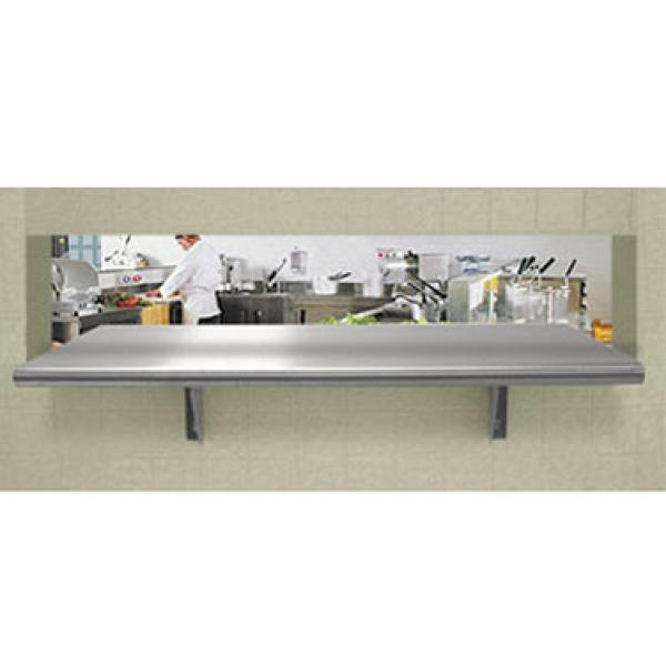 "Advance Tabco PA1884 84""L x 18""D Stainless Steel Pass-Thru Shelf"