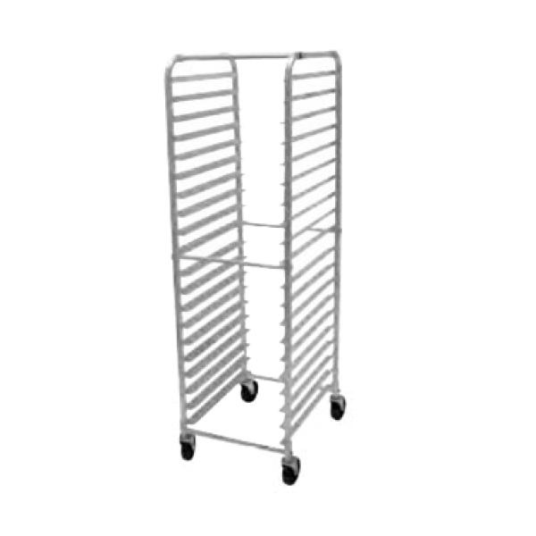 "Advance Tabco PR203WS Mobile Pan Rack w/ Open Sides - Capacity of (30) 18"" x 26"" Sheet Pans - Side Loading"