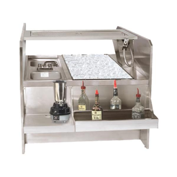 Restaurant Kitchen Pass: Underbar Ice Bin/Cocktail Station W/ Pass-thru Ice Bin And 10-Circuit Cold Plate: Restaurant