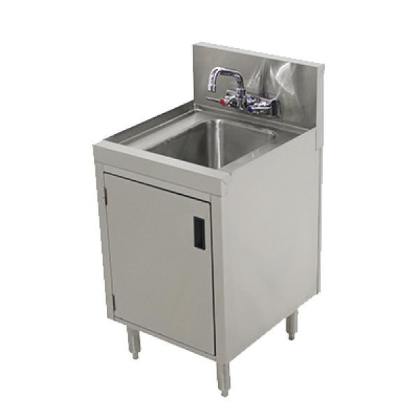 Underbar hand sink 12 w x 20 d x 36 h w enclosed for 10 deep floor cabinet
