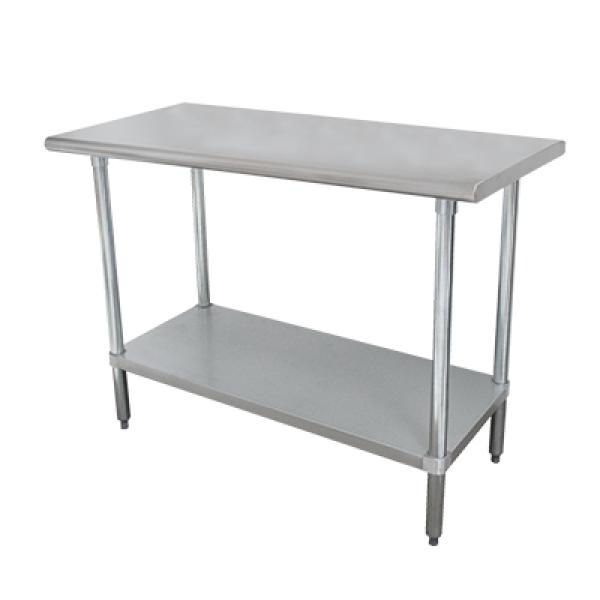 "Advance Tabco SLAG246X 72""L x 24""W Work Table - No Backsplash - Stainless Steel Undershelf"