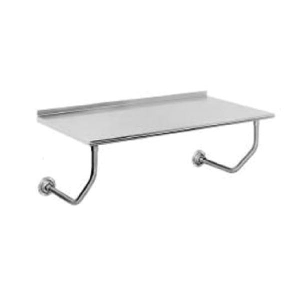 "Advance Tabco FSSW246 72""L x 24""W Stainless Steel Table - Wall-Mount - 1-1/2"" Backsplash"