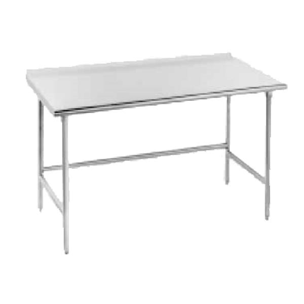 "132""L x 36""W Work Table w/ Rear Turn-up - Stainless Steel Frame"
