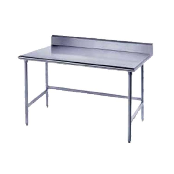 "72""L x 24""W Work Table w/ 5""Backsplash - Stainless Steel Frame"