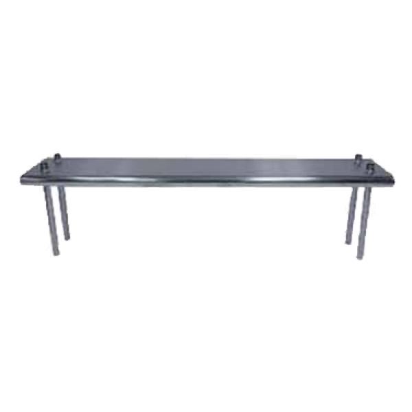 "Advance Tabco TS1284 84"" Table Mounted Overshelf - Single Deck - 12"" Wide"