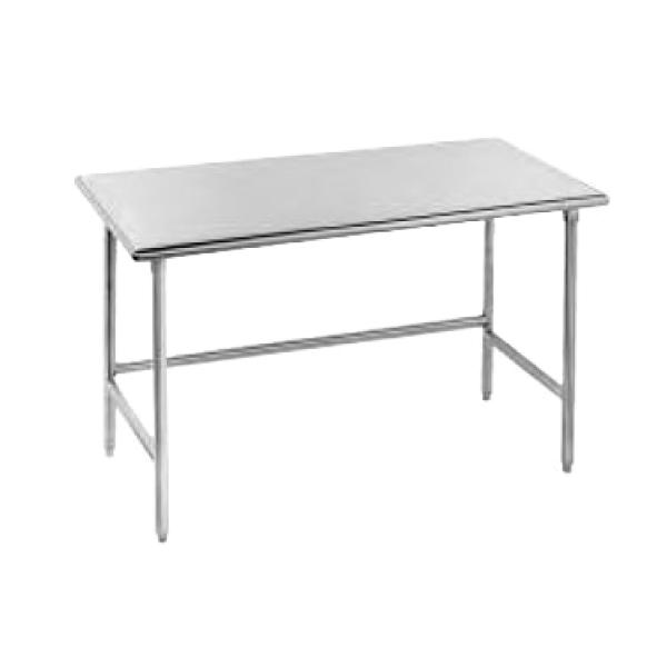 "Advance Tabco TSS300 30""L x 30""W Work Table - No Backsplash - Stainless Steel Undershelf"