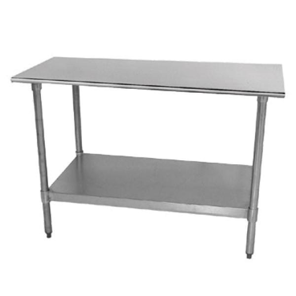 L X W Work Table No Backsplash Stainless Steel Undershelf - Restaurant equipment stainless steel table