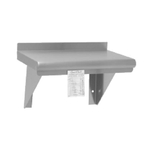 "Wall Mouted Shelf, 60""l x 12""w, 18 gauge type 300 stainless steel"