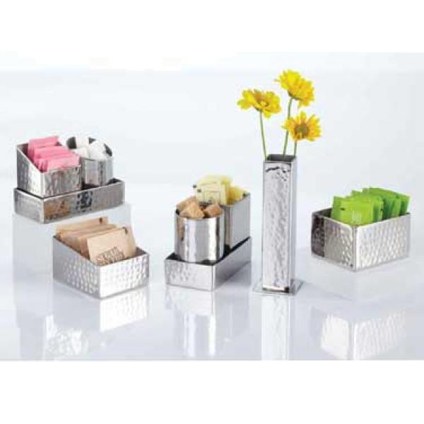Sugar Packet Holder 2 3 4 L X 3 1 4 W X 1 3 4 H Stainless Steel Restaurant Equipment Solutions