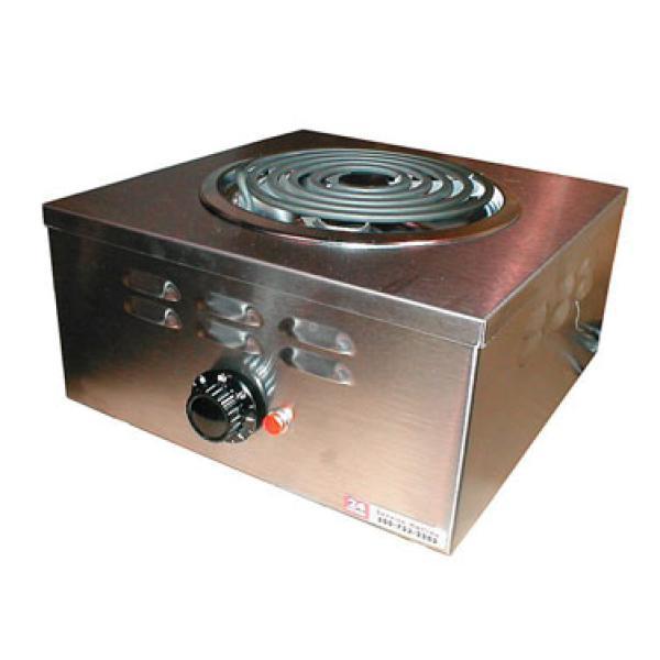 Hotplate, electric, countertop, heavy duty portable, single burner ...