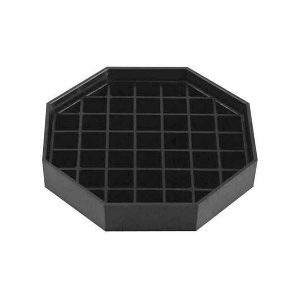 "Bar Maid CR1440 Drip Catcher - 6"" Trivet Style - Black Tray With Removable Black Grid (2 per Pack)"