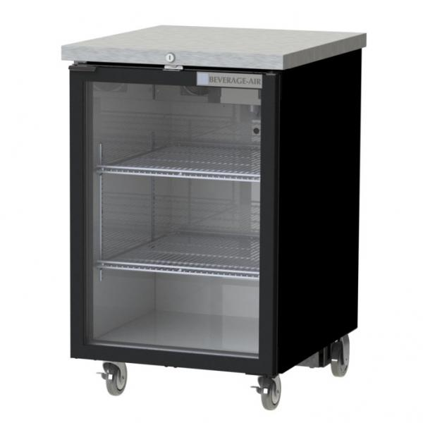 Refrigerated Food Rated Back Bar Storage Cabinet One Section 24