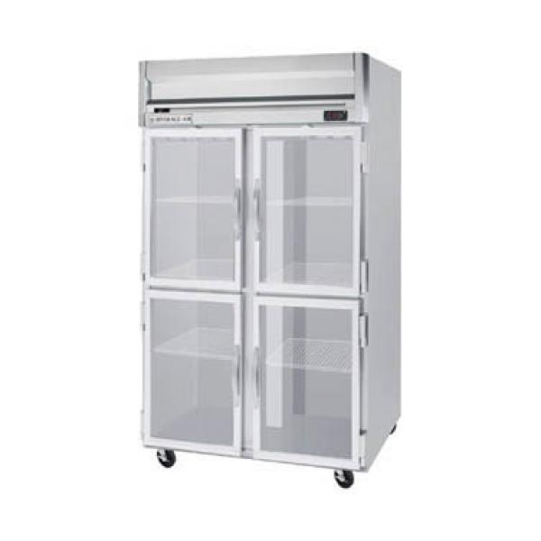 "Beverage Air HF21HG 52"" Reach-in Freezer - 49 Cu. Ft. - Four Glass Half Doors"