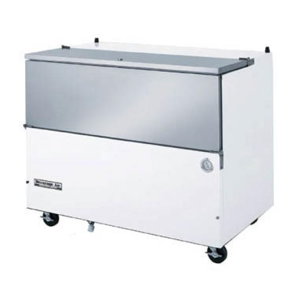 "Beverage Air  59"" Stainless Steel School Milk Cooler - 24 Cu.Ft."