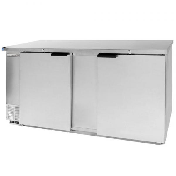 "Beverage Air  68"" Stainless Steel Back Bar Refrigerator - 28.4 Cu. Ft."