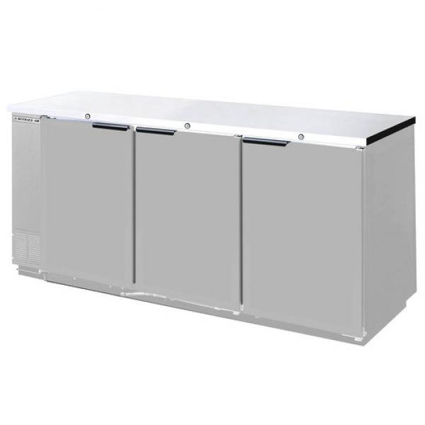 "78"" Stainless Steel Back Bar Refrigerator - 33.0 Cu. Ft."