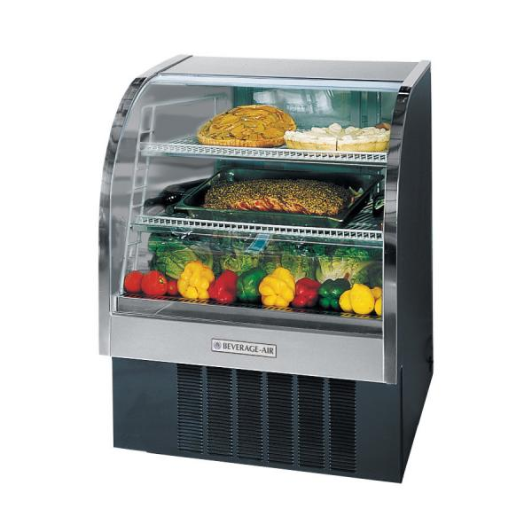 "Beverage Air  49"" Black Curved Glass Refrigerated Deli Case - 13.4 Cu. Ft."