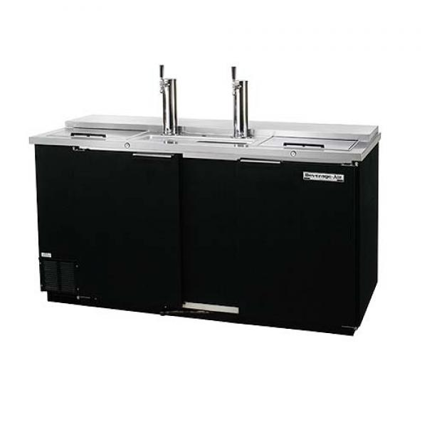 "69"" Black Club Top Draft Beer Dispenser - (3) Keg Capacity"