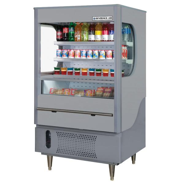 "Beverage Air  35"" Gray Open-Air Merchandiser - 12 Cu. Ft."