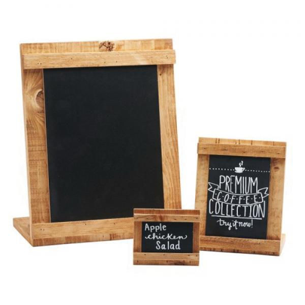 Madera Write On Chalkboard 4 W X 6 H Write On Area Reclaimed Wood Frame Use With Chalkb Restaurant Equipment Solutions