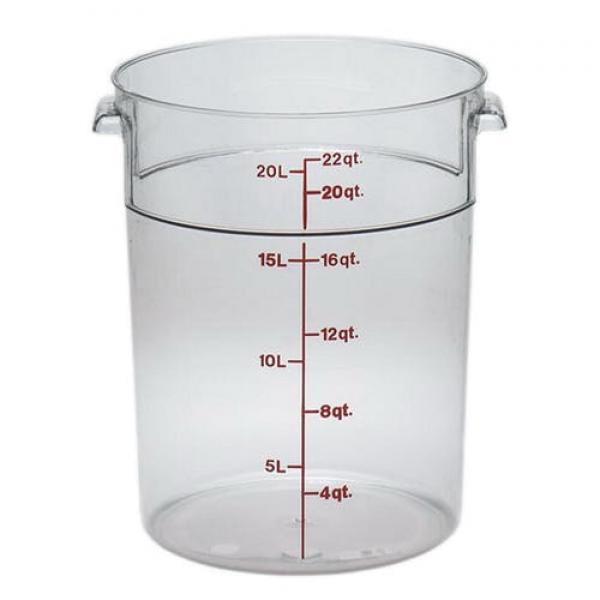 Camwear Storage Container, round, 22 qt., 14-7/8
