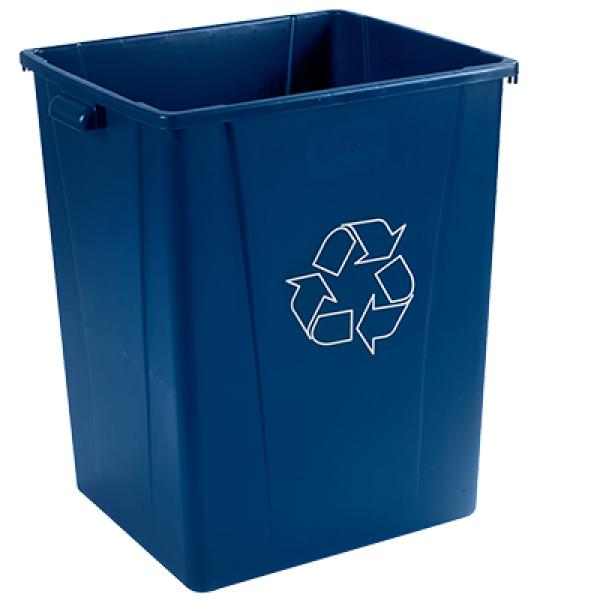 Recycle Waste Container 56 Gallon Square Venting