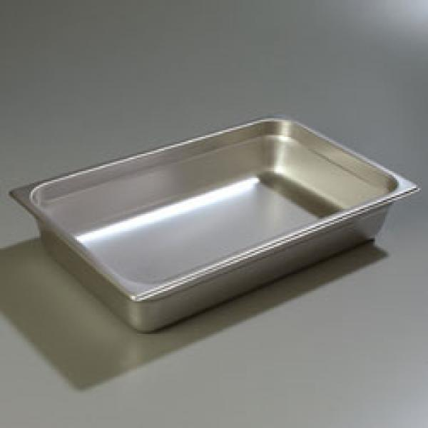 "DuraPan™ Steam Table Pan, full-size, 16.6 qt., 4"" deep, reinforced corners, stackable"